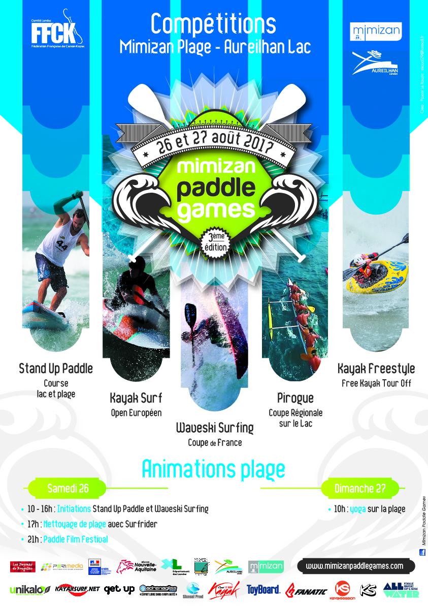 3ème édition des Mimizan Paddle Games – 26 et 27 août 2017