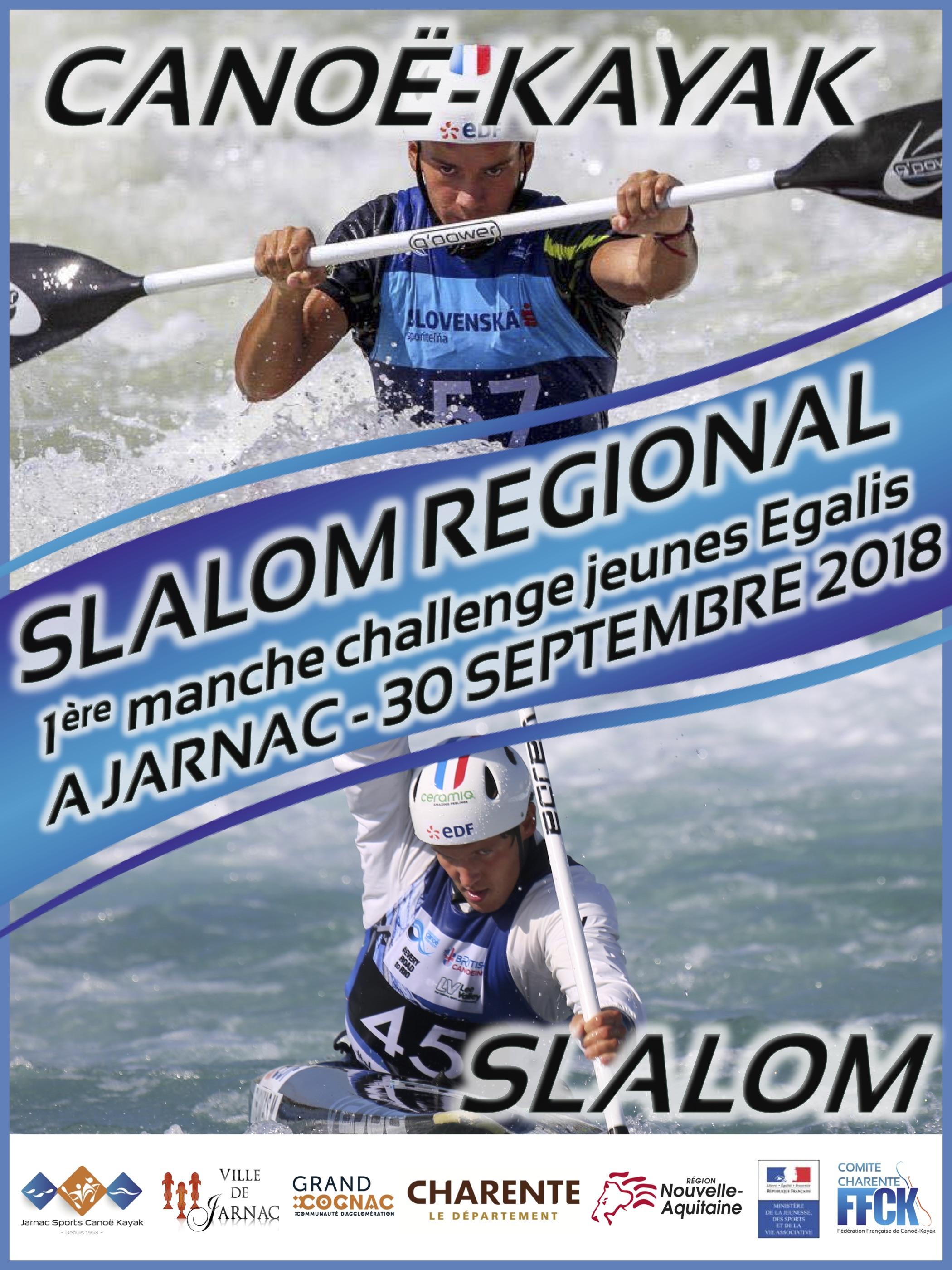 SLALOM – Régional à Jarnac – 30/09/18