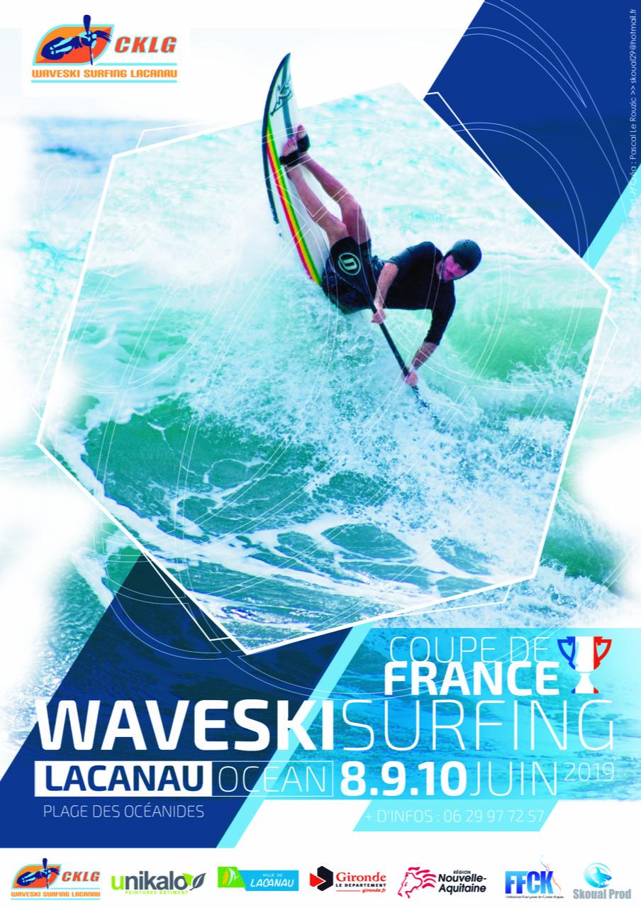 WAVESKI Surfing – Coupe de France – 8-10 juin – Lacanau (33)