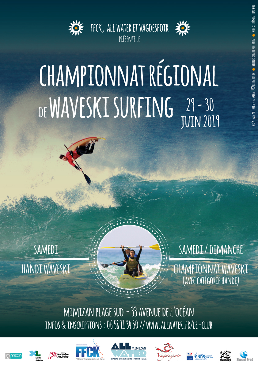 WAVESKI SURFING – Championnat Régional – 29 et 30 juin – MIMIZAN (40)