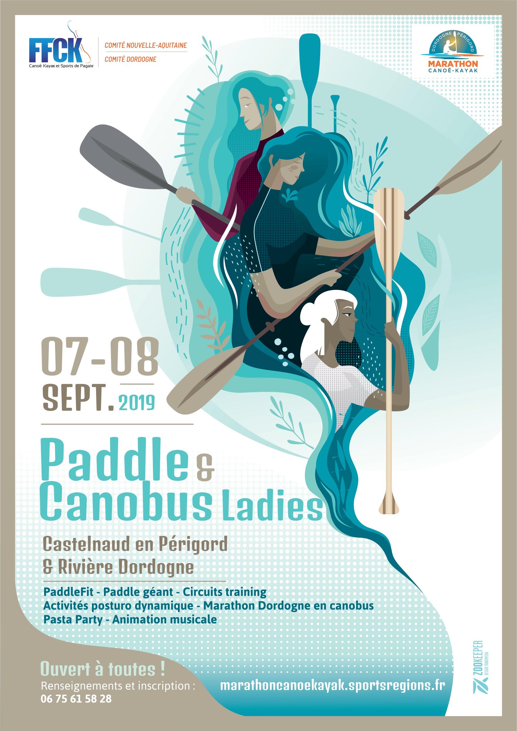 Paddle & Canobus ladies – Castelnaud La Chapelle Dordogne – 7 et 8 septembre