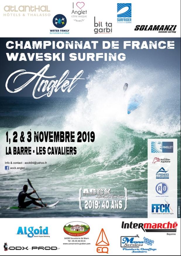 WAVESKI Surfing – Championnat de France – Anglet – 1,2 et 3 novembre