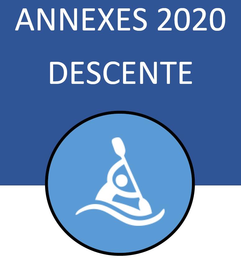 DESCENTE – annexes 2020 du règlement