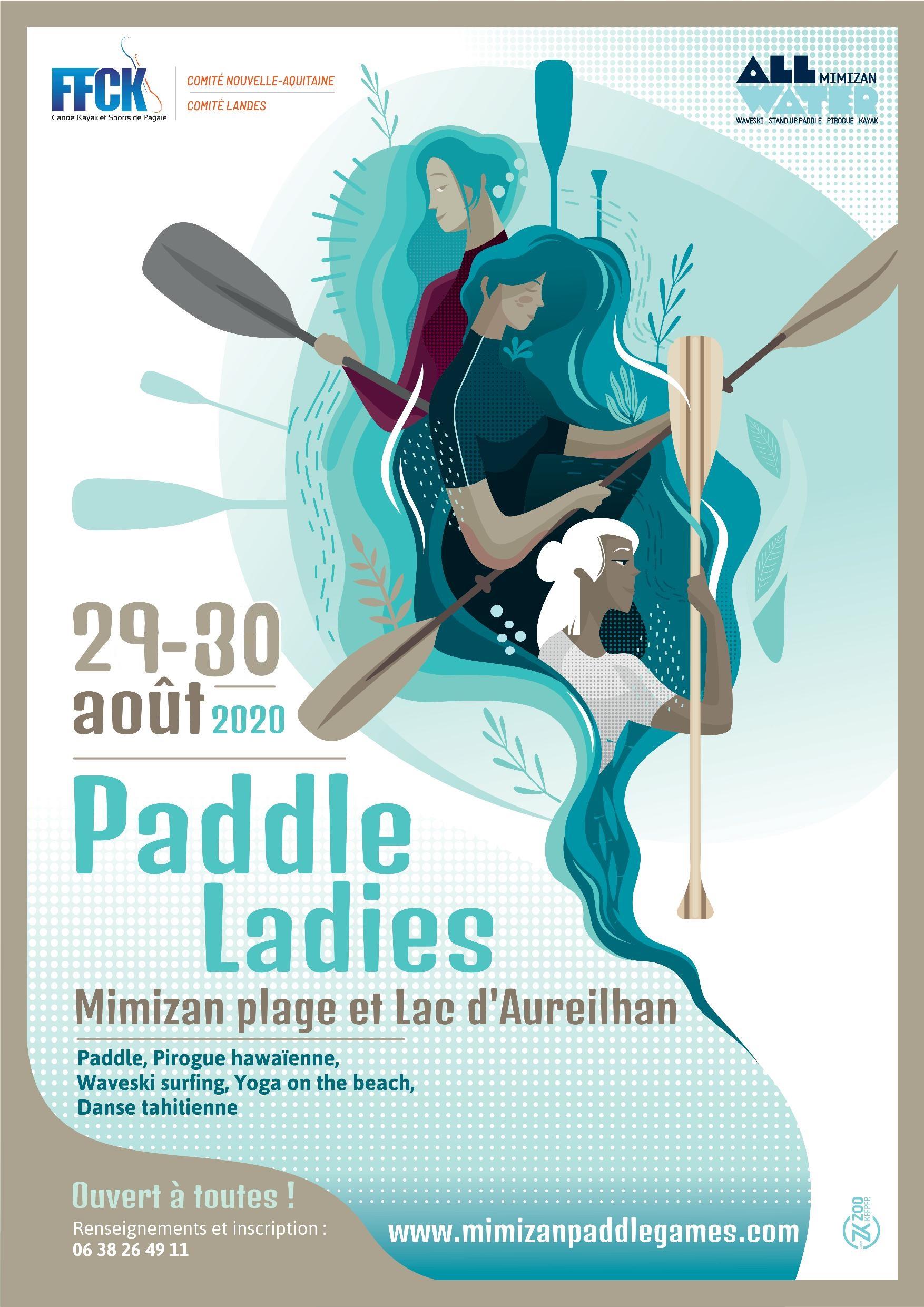100% Féminin : sport, loisir, bien être, rendez-vous aux Paddle Ladies à Mimizan les 29 et 30 août