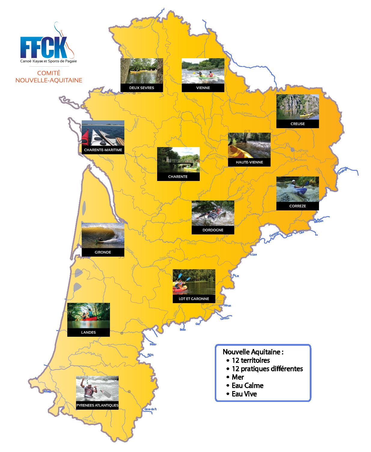 Carte Région Nouvelle-Aquitaine